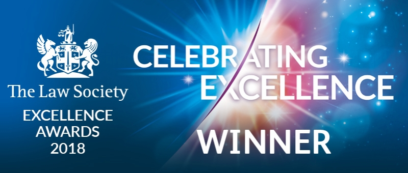 The Law Society Excellence Awards 2018 - Winner